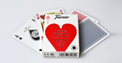 Fournier Poker 2500, plastic, blue